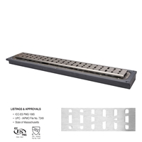 "FreeStyle™ Linear Drain (PVC)</br>24"" long with Wave Strainer"