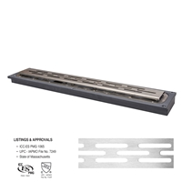 "FreeStyle™ Linear Drain (PVC)</br>36"" long with Slotted Strainer"