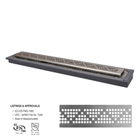 "FreeStyle™ Linear Drain (PVC)</br>36"" long with Pyramid Strainer"