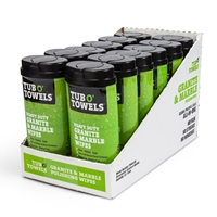 Tub O' Towels Granite Marble and Tile 40 ct Dispenser (12 Pack)
