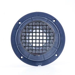 Clamping Ring Drain (PVC) Round Strainer Chrome Plated
