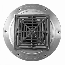 ThinBedDrainChromeFinishSquare Strainer