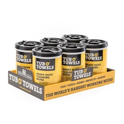 Tub O' Towels 90 ct Dispenser (6 Pack)